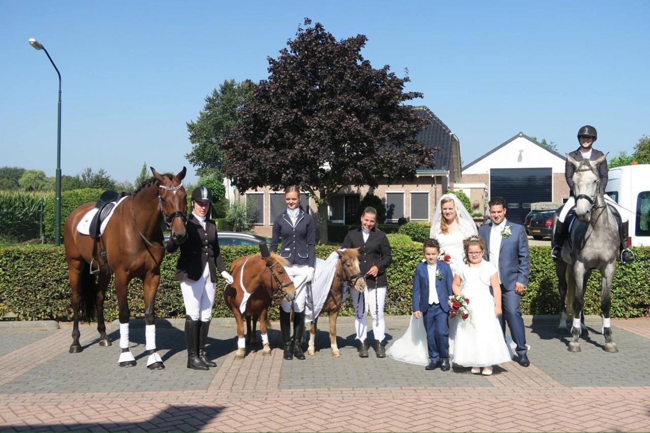 De bruiloft van lid Lianne den Besten